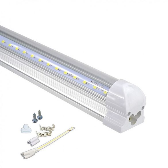T8 Integrated 1.5m 23W 100Lm/w clear cover 6000K