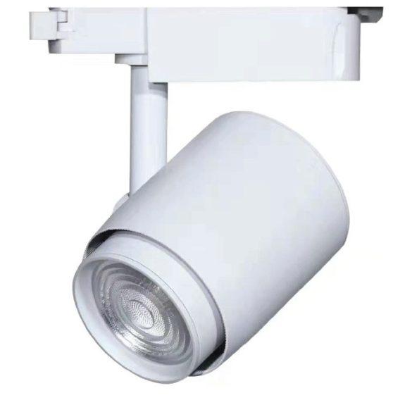Egyfázisú sínes lámpa fehér, 36W, 6000K