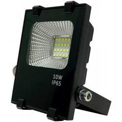LED flood light 10W, 3000K, black housing, IP65