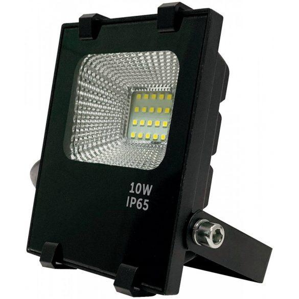 LED flood light 10W, 6500K, black housing, IP65