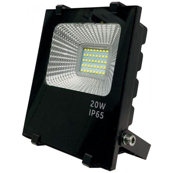 LED flood light 20W, 3000K, black housing, IP65