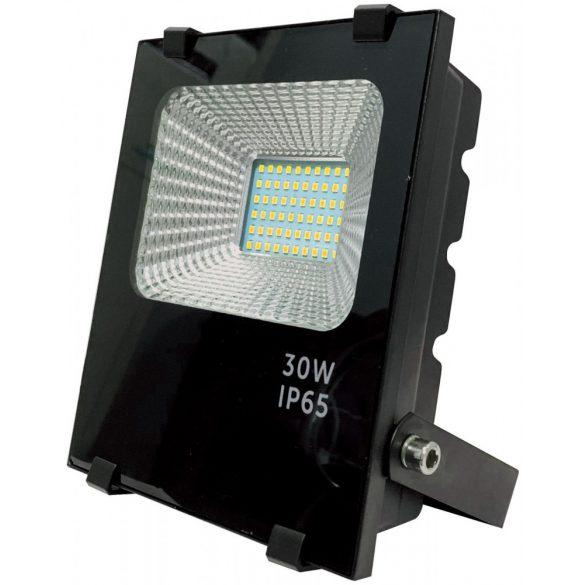 Led reflektor 30W, 6500K, fekete ház