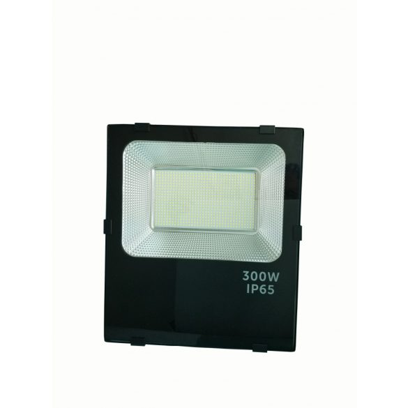 LED flood light 300W, 6500K, black housing, IP65