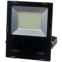 LED flood light 100W, 3000K, black housing, IP65