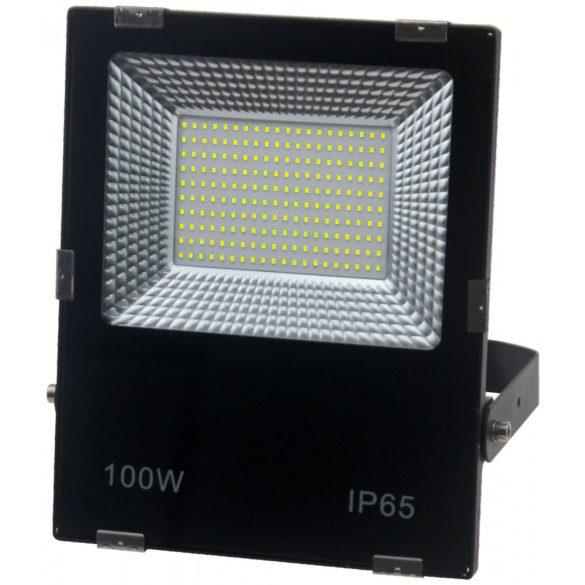Led reflektor 100W, 6500K, fekete ház