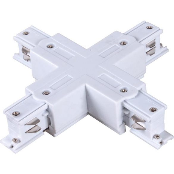 X connector for 3-phase track rail, white