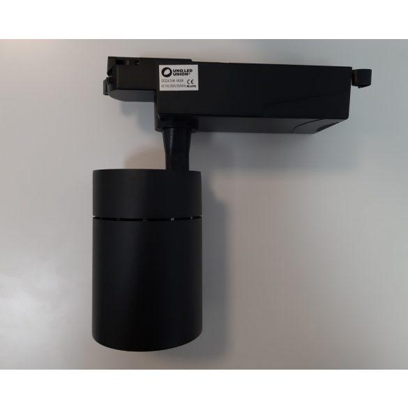 Egyfázisú sínes lámpa fekete, 25W, hideg fehér (6000K)