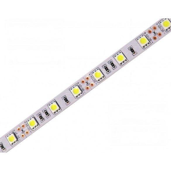 LED szalag 5050 60 led / m, 6000K, IP20, 14,4W/m