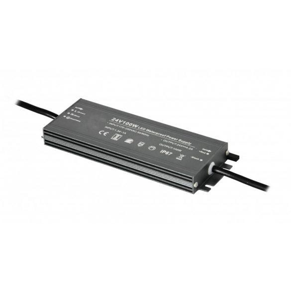 Fémházas LED tápegység 100W, DC12V, 8,3A, IP67