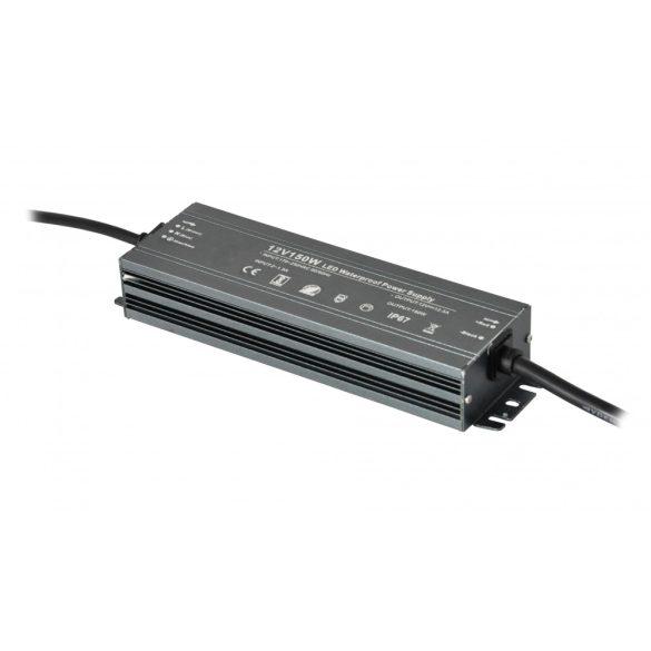 Fémházas LED tápegység 150W, DC12V, 12,5A, IP67