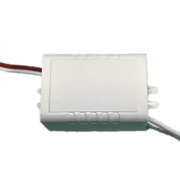 Műanyagházas LED tápegység 6W, DC12V, 0,5A, IP20