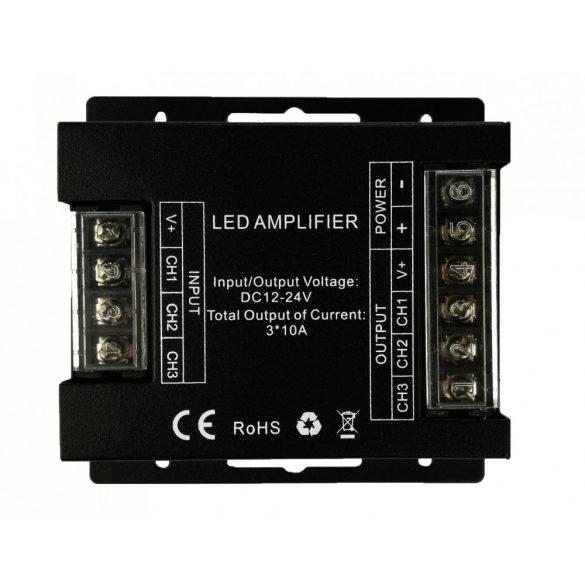 Jelerősítő RGB/CCT led szalaghoz 3*10A, DC12V - 360W; DC24V - 720W
