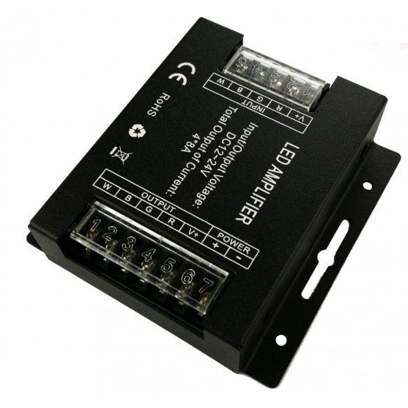 Jelerősítő RGBW/RGB+W led szalaghoz 4*8A, DC12V - 384W; DC24V - 768W
