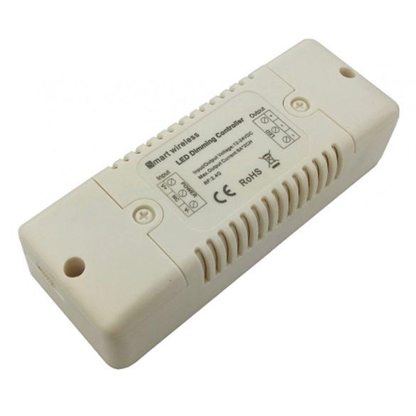 Fényerőszabályzó egyszínű led szalaghoz, 2*8A,  DC12V - 192W; DC24V - 384W, RF:2,4G