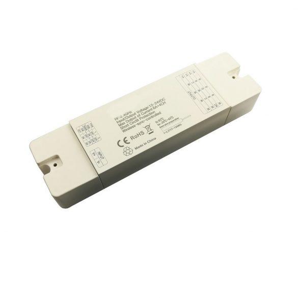 4in1 controller for single/CCT/RGB/RGBW LED strip 4*6A, DC12V - 288W; DC24V - 576W, RF: 2,4G