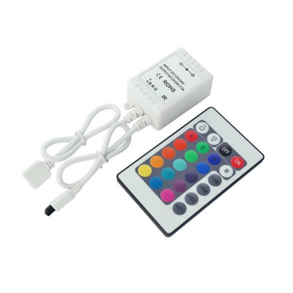 IR RGB controller, 24 buttons, 3*2A, DC12V - 72W; DC24V - 144W