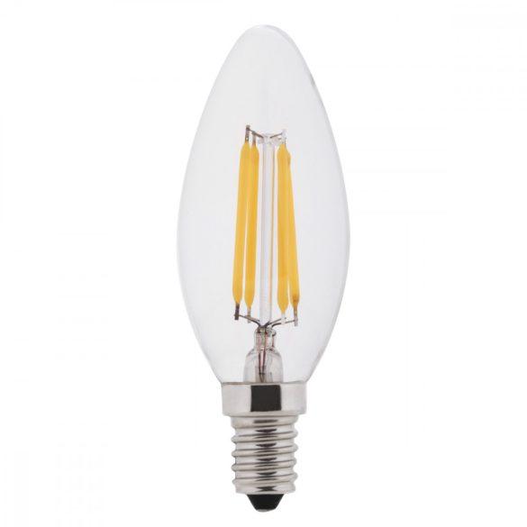 E14 4W filament gyertya led égő fényerőszabályozható hideg fehér (6000K)