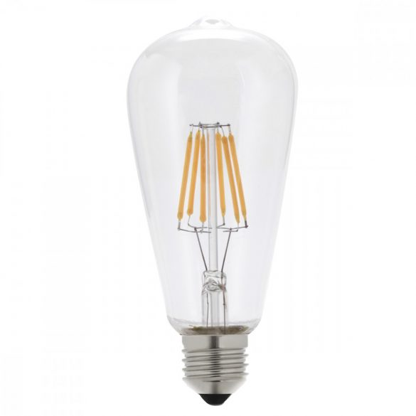 LED BULB ST64 7W 810LM E27 175-265V Dimmable CLEAR GLASS 6000K