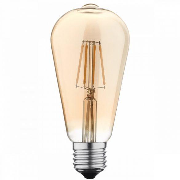 E27 7W Edison led égő (ST64) fényerőszabályozható, arany búrával semleges fehér (4500K)