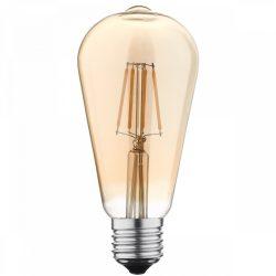 LED BULB ST64 7W 810LM E27 175-265V Dimmable GOLDEN GLASS 6000K