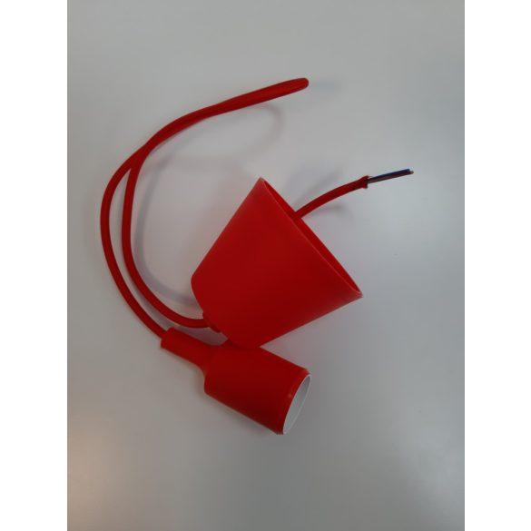 Függő lámpa, E27-es foglalattal - piros színű