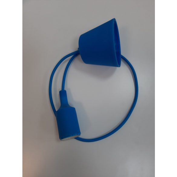 Hanging cable with E27 Socket blue color
