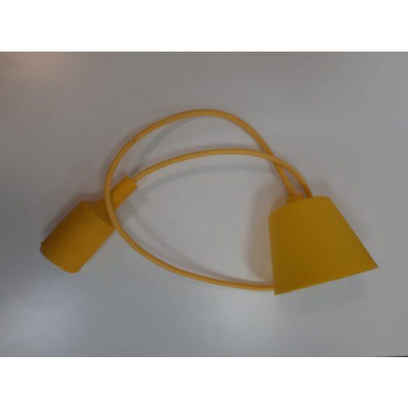 Függő lámpa, E27-es foglalattal - sárga színű