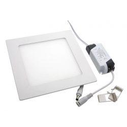 6W Recessed Square LED panel, 6000K