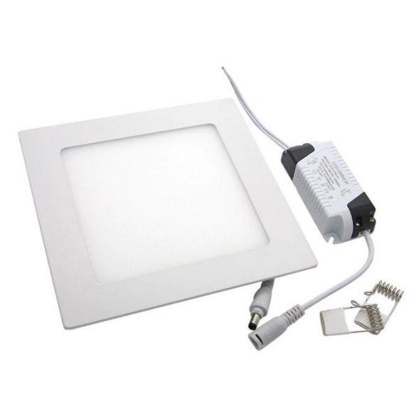 6W süllyeszthető led panel, négyzet alakú, hideg fehér (6000K)