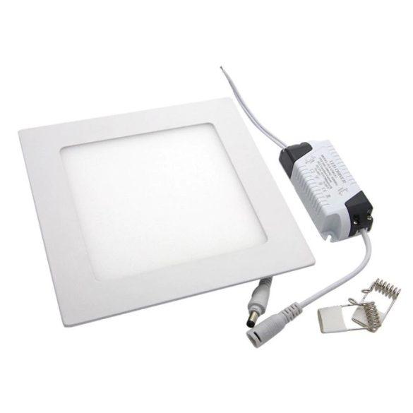 18W süllyeszthető led panel, négyzet alakú, hideg fehér (6000K)