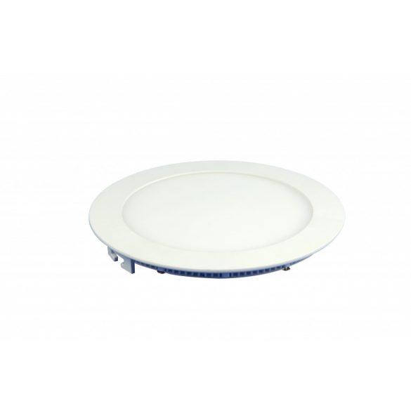 18W süllyeszthető led panel, kör alakú, hideg fehér (6000K)